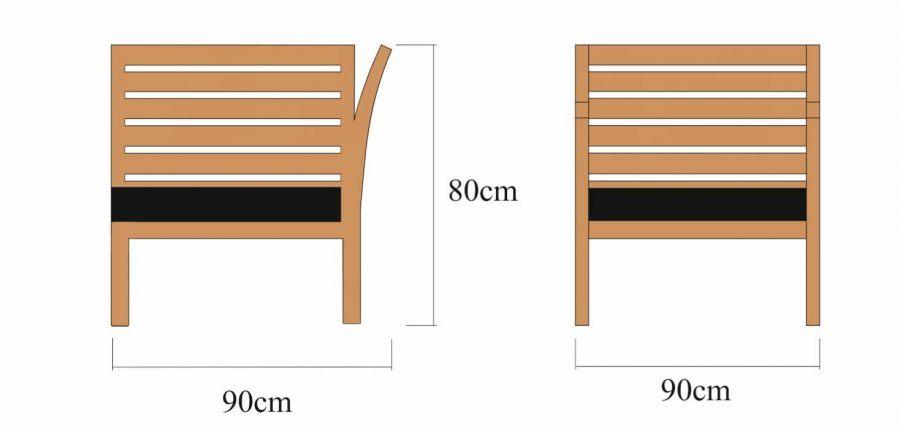 Drewniany moduł narożny Milano